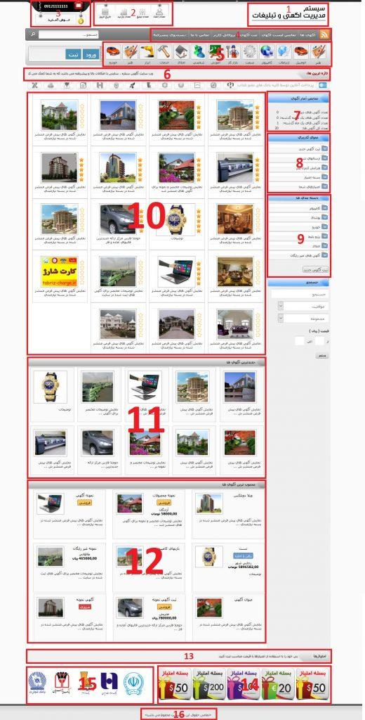 آموزش وب سایت آگهی ستاره