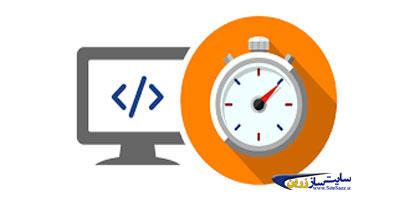کامپیوتر کنار سرعت سنج نماد سرعت سایت