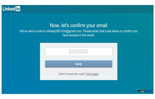 تایید ایمیل در لینکدین