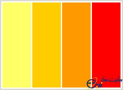 رنگ های گرم
