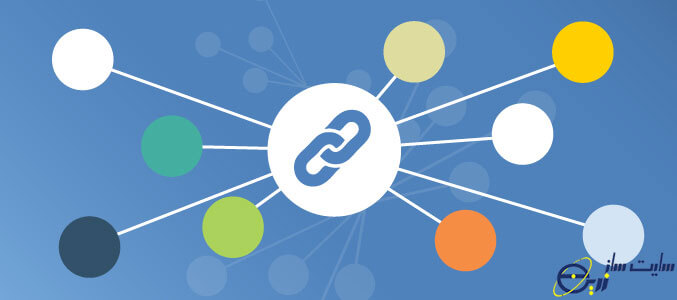 چند زنجیر متصل به هم نماد بک لینک و لینک سازی