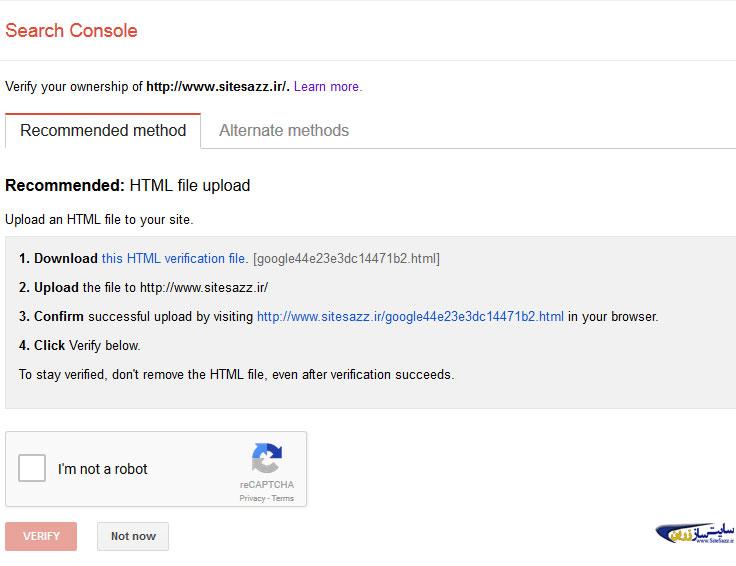 روش پیشنهادی گوگل برای احراز هویت برای عضویت در گوگل وبمستر